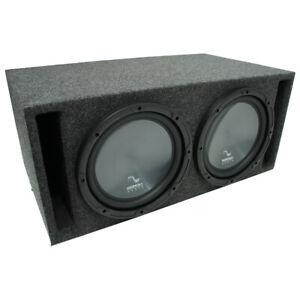 """Universal Car Stereo Slotted S Port Dual 15"""" Harmony R154 Sub Box Enclosure"""