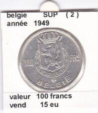 FB )pieces de 100 francs albert I 1949  belgie ( 2 )