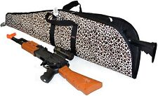 """42"""" Rifle Case Leopard Print Polyester 600 D Attached Scope Compatible"""