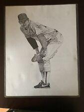 1994 Litho By Frank Nareau Nolan Ryan Texas Rangers,Astros,Mets,Angels150/1000