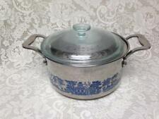 Vintage Blue Willow 3.5 Qt Heavy Gauge Stainless Steel 3pc Pot-Steamer-Glass Lid