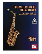 Mel Bay 30756M Odd-Meter Etudes for Alto Sax Play-Along Book with Demonstration