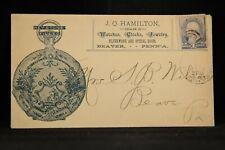 Pennsylvania: Beaver 1889 Hamilton Watch Dealer Advertising Cover