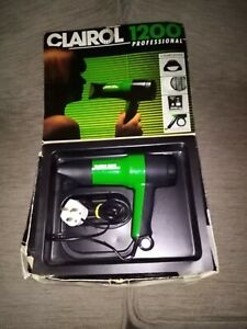 Clairol 1200W Professional Hair Dryer PD1200 Green / Black 240V 2 Heat & 2 Speed