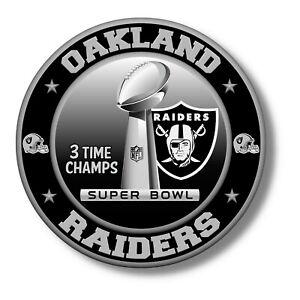 Oakland Raiders Super Bowl Championship Vinyl Sticker, NFL Decal 12 sizes USA