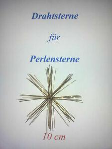 50 Drahtsterne - 10 cm - Perlensterne - Draht - Perlen - Sterne wire pearl star