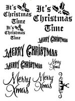 STENCILS CRAFTS TEMPLATES SCRAPBOOKING CHRISTMAS STENCIL - 1 - A4 MYLAR
