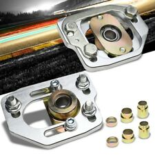 Silver Front Adjustable +/-3 Camber +/-2 Caster Plate Kit For 90-93 Ford Mustang