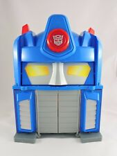 Electronic Fire Station Prime TRANSFORMERS Rescue Bots Optimus playset 2010 toy