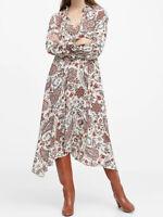 NWT Banana Republic New $159 Women Peasant Midi Dress Size 0P, 0, 2, 4, 6, 8P, 8