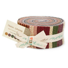 Moda Miniature Primitive Gatherings Color Red Cream Jelly Roll 2.5 Fabric Strips