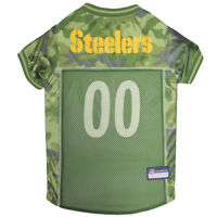 Pittsburgh Steelers NFL Pets First Licensed Dog Pet Mesh CAMO Jersey XS-XL NWT