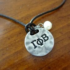 new! GAMMA PHI BETA Sisters Are Forever CHARM NECKLACE Greek sorority jewelry