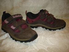 KIds TIMBERLAND Brown Leather Sneakers Shoes Size 2