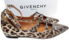 Givenchy Leopard Studde Piper Stud-Embellished Flats Ballerina Shoe Ballets 39.5