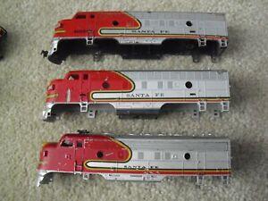 Lot of 3 Vintage HO Scale Locomotive Shells Bodies Santa Fe 4015