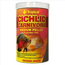 Tropical Cichlid Carnivore 500ml 180g Medium 3mm Pellet Fish Food