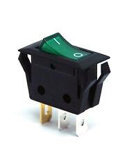 5pc RLEIL Rocker Switch RL1 RL1-5(W) 3P SPST 15A125V 7.5A250V O/I mark Green