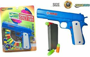 Toy Gun Pistol Classic Colt M1911 Kids Sniper Strike Dart Guns With Soft Bullet