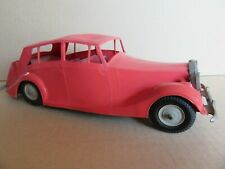 Rare 1950'S Mettoy 905 England Rolls Royce Silver Wraith Rouge Plastique L 27,5