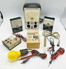 Eico Model 232 Peak to Peak VTVM Meter Voltmeter Ohmmeter Lot - 5 Vintage Meters