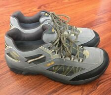 Teva Low-top Waterproof Grey Yellow Hike Shoes with Mush Infused Soles- size 9.5