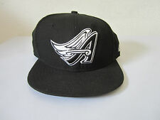 New Era California Angles Black/White 59Fifty Cooperstown Fitted Hat Cap Size 7