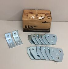 New listing B-Line B337Three Hole Tee Gusset Plate (Lot Of 12) + (2) B374