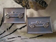 Vintage Embossed Cufflinks DETAILED 1927 VOLVO CONVERTIBLE ~SWEDISH AUTOMOBILE