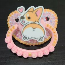 """""""Fluff Butt"""" full deco Adult sized pacifier"""