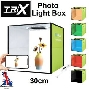 TRiX PULUZ 30CM Photo Studio Light Box Folding Photography Shooting Kit USB LED