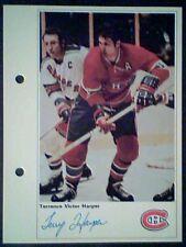 TERRY HARPER  MONTREAL CANADIENS  71/72 TORONTO SUN 5-1/4 X 7 PHOTO CARD