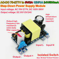 AC-DC 110V 220V to 5V/2A 12V/1A 24V/0.5A Step-Down Module Power Supply Converter