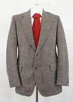 Burberrys Sakko Gr.46 grau meliert Einreiher 2-Knopf Tweed Wolle -C243
