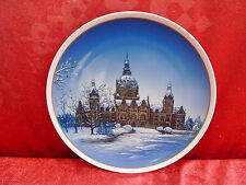 Classy Rosenthal Plate - Christmas Plate __ Town Hall Hannover_