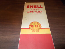 1947 Shell Montana Vintage Road Map