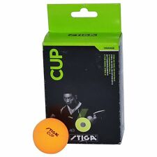 Stiga Table Tennis TT Ball   Orange Table Tennis Ball  12 Balls  Stiga Cup