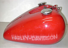 Vintage HARLEY-DAVIDSON King Size (5 GAL) Red Split Motorcycle Fuel Gas Tank