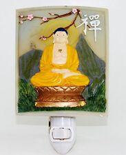 Zen Buddha Meditating Nightlight Lamp Candle Yoga Peaceful Meditation Home Decor