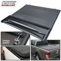 For 1997-2003 Ford F-150 6.5ft/78in Bed Black Four Fold Soft Tonneau Cover