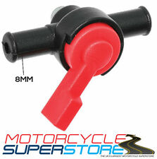 UNIVERSAL MOTORCYCLE ATV SCOOTER LAWNMOWERS DUAL BODY ON/OFF INLINE FUEL TAP 8MM