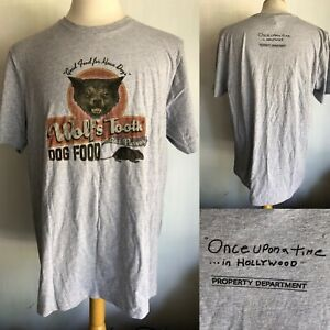 ONCE UPON A TIME IN HOLLYWOOD Official Wolf Tooth Dog Food FILM CREW T-Shirt XL