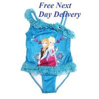 FROZEN ANNA ELSA maillot de bain costume bleu DISNEY FILLES ENFANTS 2 3 4 5 6
