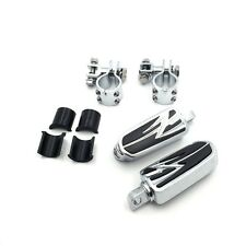 """For Honda VT750 Shadow 750 ACE VT1100 VTX 1 1/4"""" Highway Flame Foot Pegs Clamps"""
