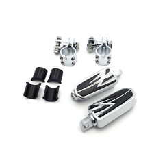 """For Honda GoldWing GL1800 GL1500 GL1100 GL1200 1"""" Highway Flame Foot Pegs Clamps"""