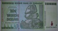 ZIMBABWE 10 TRILLION DOLLARS NOTE. UNCIRCULATED.
