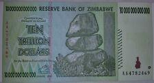 Zimbabwe 10 trilioni di dollari nota. FIOR.