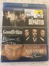 Scorsese Blu-ray Triple Feature - Goodfellas, Aviator, Departed. Unopened, New!