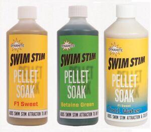 Dynamite Baits Swim Stim Pellet Soak Betaine Green F1 Sweet  Cool Water Fishing