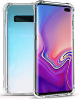 For Samsung Galaxy S10 5G S10 Plus Clear Transparent Shockproof TPU Bumper Case